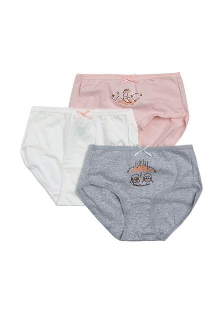 女童中腰內褲三件組