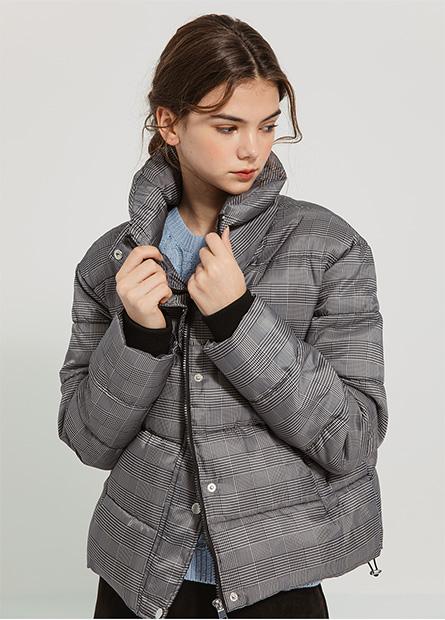 立領鋪棉外套