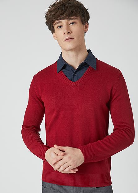 抗起球襯衫領毛衣