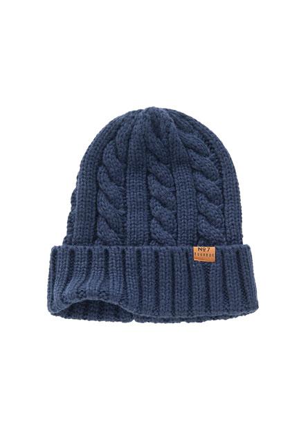 麻花羅紋毛帽