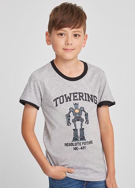 機器人接袖短T