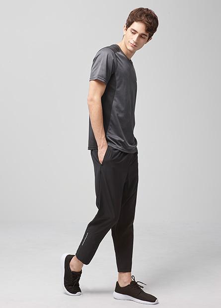 單層布運動九分褲