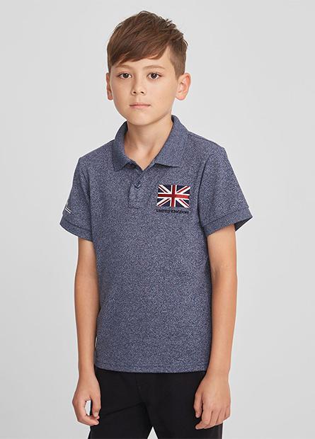 男童英國旗POLO衫