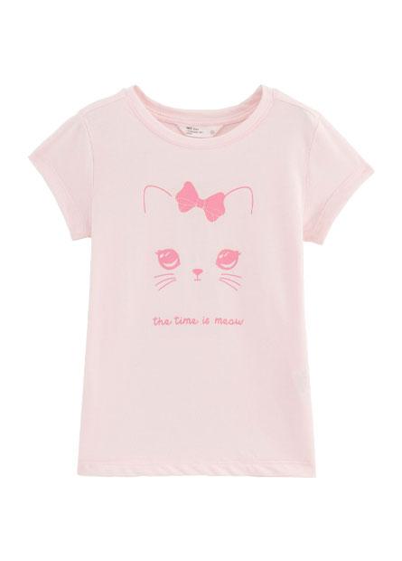 女童貓咪圖T