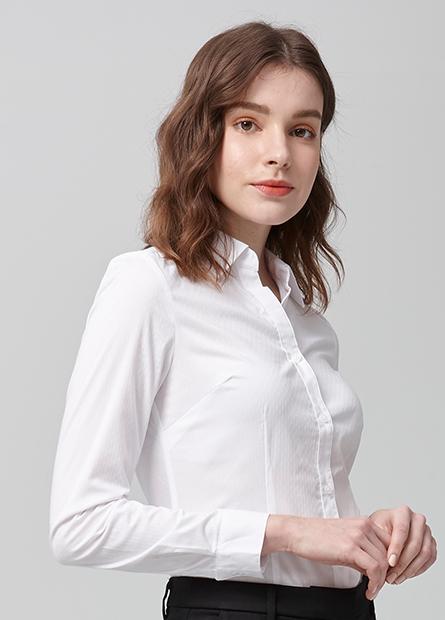 V領商務長袖襯衫