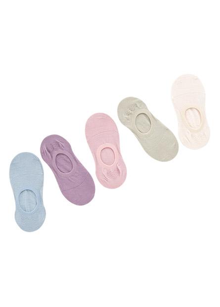 素色隱形襪(五入)