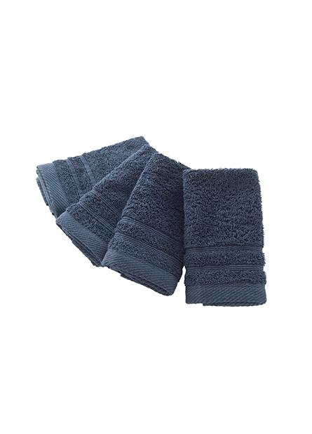 純棉素色方巾(四入)