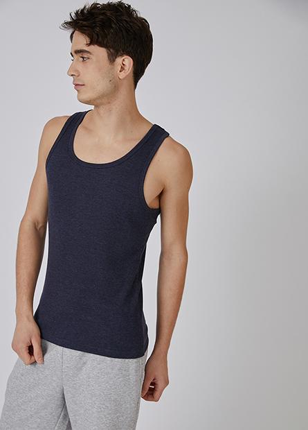 素色窄肩挖背羅紋背心