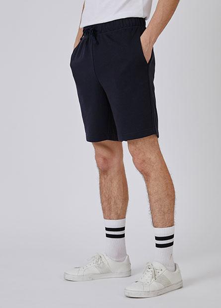 素色抽繩毛圈短褲