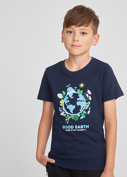 男童環保地球短T