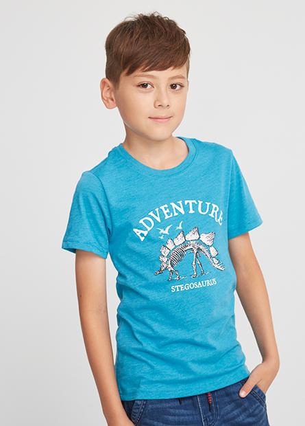 男童劍龍化石短T