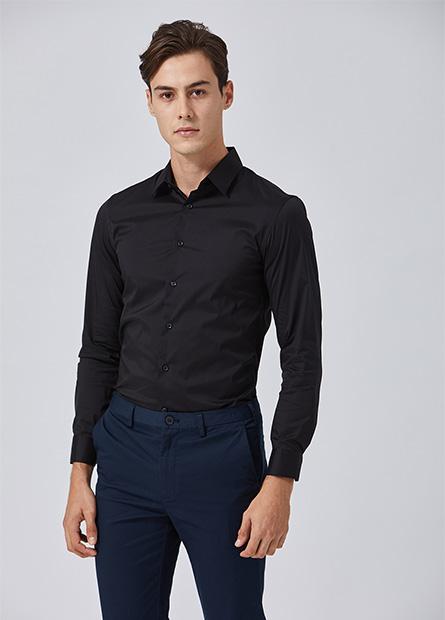 Skinny Fit長袖商務襯衫
