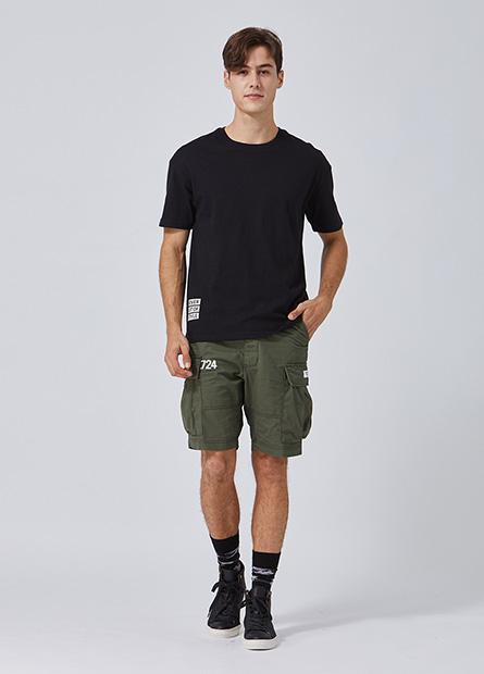Regular Fit印字工裝短褲