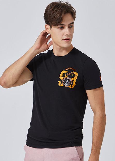 左胸刺繡軍事徽章短T