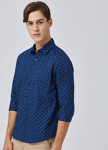 Regular Fit單口袋襯衫
