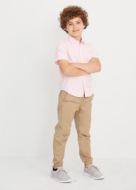 男童Regular Fit縮口長褲