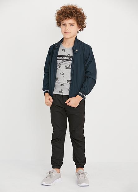男童立領羅紋縮口夾克