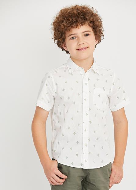 男童標準領短袖襯衫