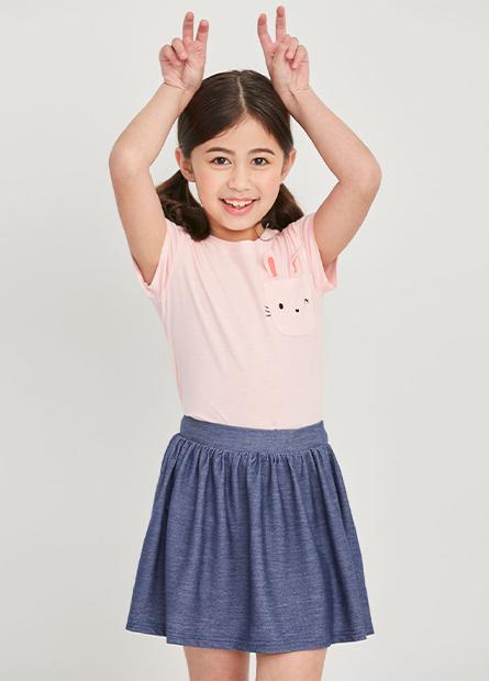 女童小兔口袋短T