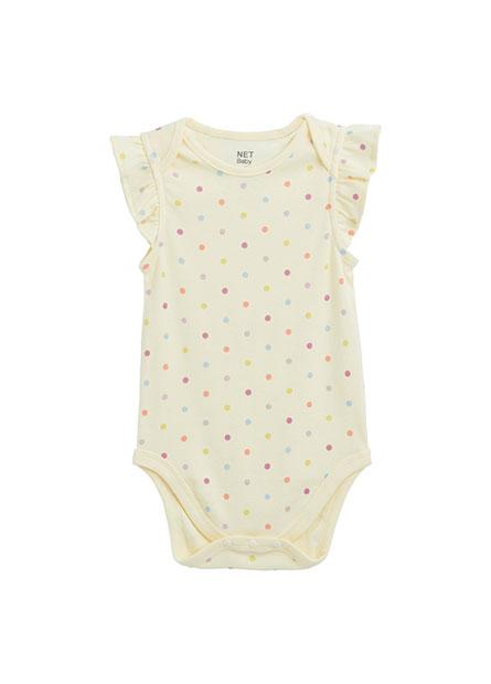 嬰兒荷葉袖包臀衣