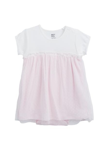 女嬰拼接紗洋裝包臀衣