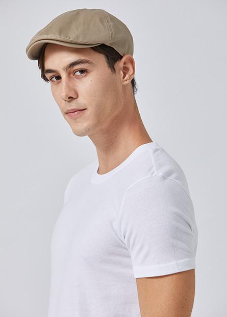 素色拼接鴨舌帽