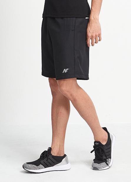 素色單層N字運動短褲