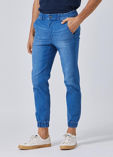 Slim Fit束口牛仔長褲