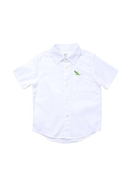 男嬰印花短袖襯衫