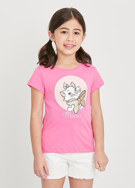 女童瑪莉貓印花T
