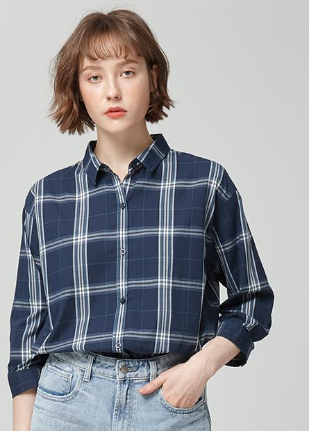 七分袖休閒襯衫