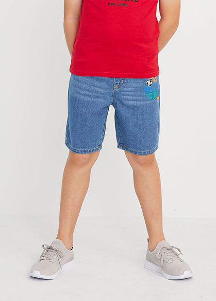 男童腰鬆緊牛仔短褲