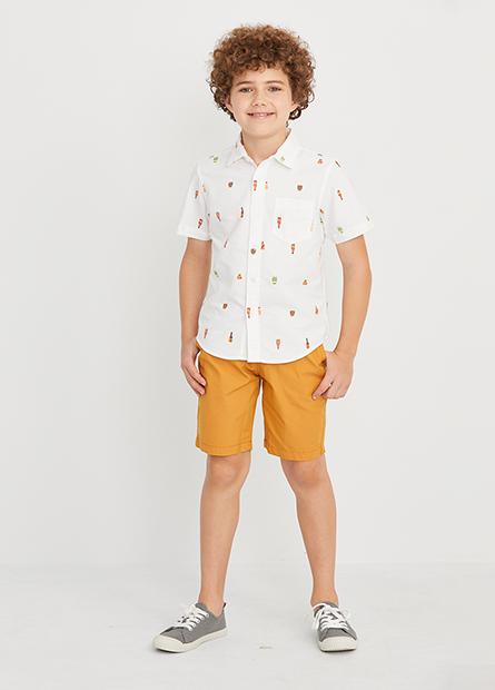 男童素色活力短褲