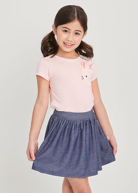 女童褶褲裙