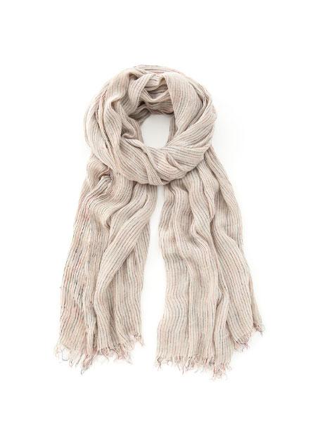 彩色直紋絲巾