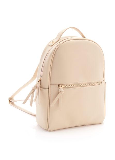 十字紋基本款拉鍊後背包