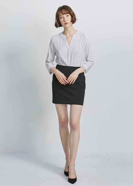 打摺商務短裙