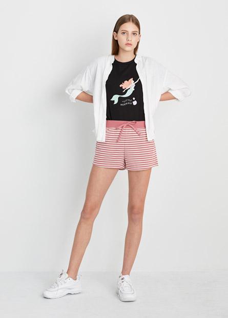 棉麻七分袖襯衫