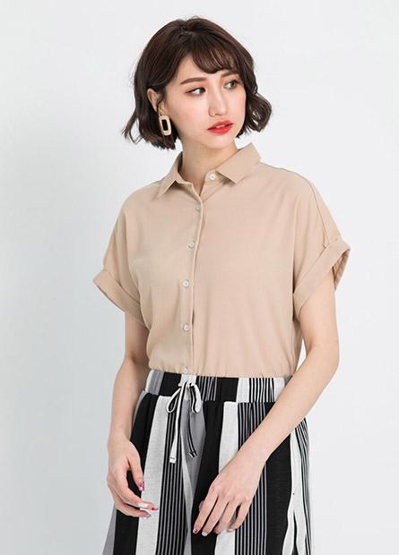 寬袖雪紡襯衫