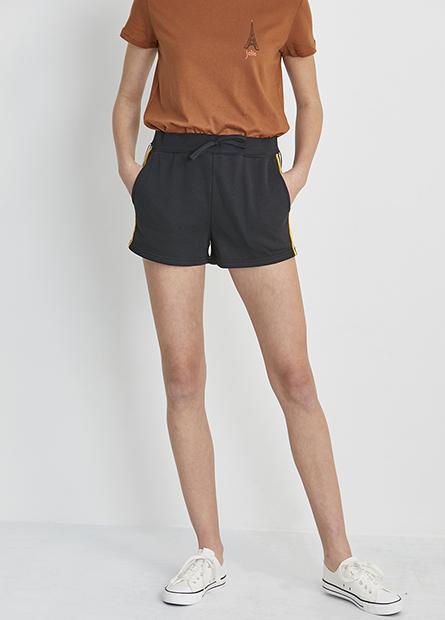 配條棉質短褲