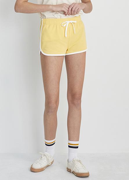 側條腰抽繩短褲