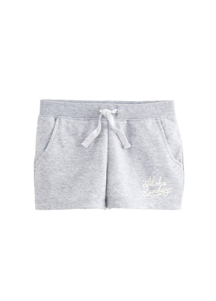 女童腰抽繩棉質短褲