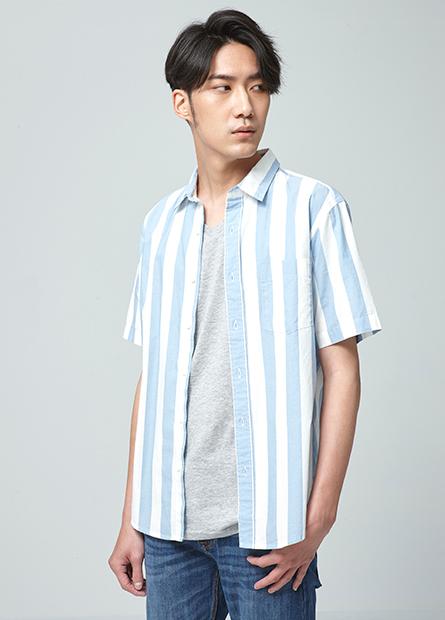 Regular Fit純棉短袖襯衫