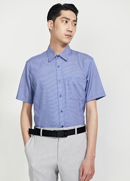 Regular Fit防皺短袖襯衫