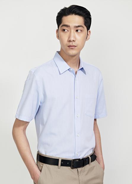 Slim Fit修身標準防皺短袖襯衫