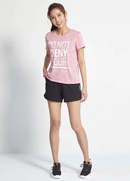 素色運動寬鬆短褲