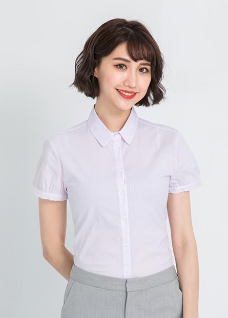 花苞袖商務短袖襯衫