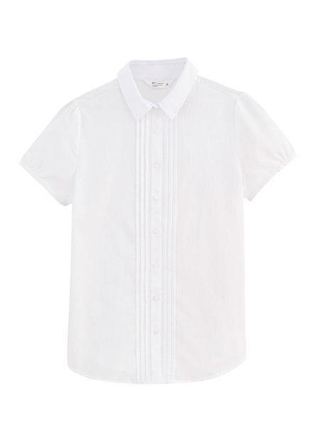 壓褶包袖商務短袖襯衫