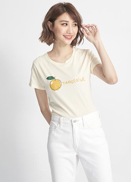 水果印字純棉短T