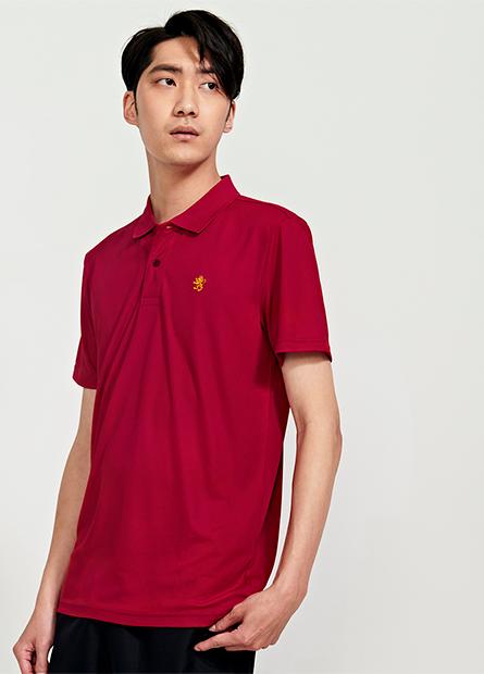 小繡獅機能短袖Polo衫